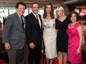 ournalist Nicholas Kristof, Thomas A. Rizk, actress Brooke Shields, Linda Rizk, and Naila Bolus (President and CEO at Jumpstart)