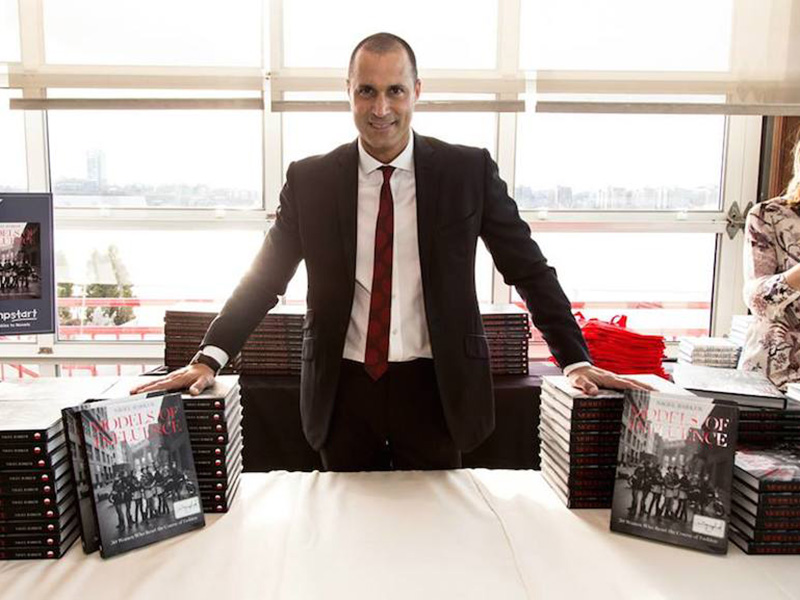 Photographer Nigel Barker with his new book 'Models of Influence'