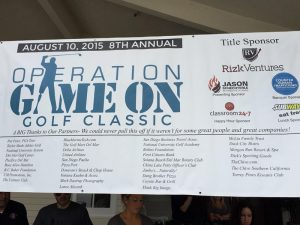 Rizk Ventures, CHTCS, and Classroom24-7 sponsor the Operation Game On Golf Classic