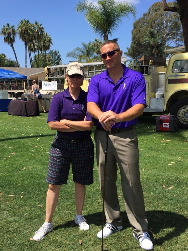 Teammates Navy Lt. Kat Wacker and USMC Major Doug Cullins