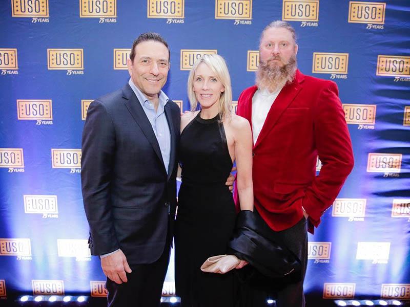 Thomas Rizk, Linda Rizk, and LtCol James Wiley