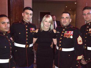 Linda Rizk with U.S. Marines