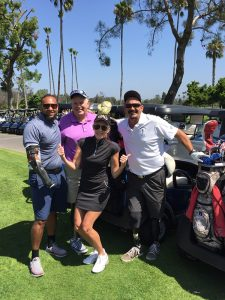 """Linda Rizk with Retired Army Sergeant First Class Jake Keesler, Retired USMC Colonel Jim """"Red Dog"""" Collins, and Retired US Army Corporal Jake Williams"""
