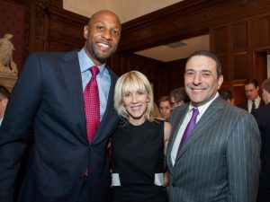 Alonzo Mourning, Linda Rizk, and Tom Rizk