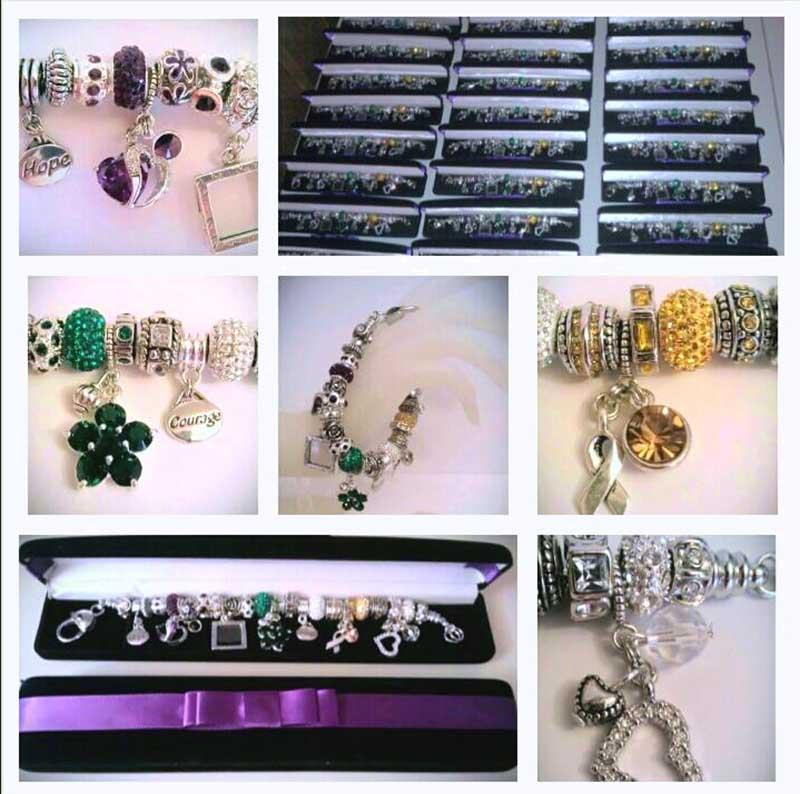 "The OGO ""Purple Heart"" bracelet collage"