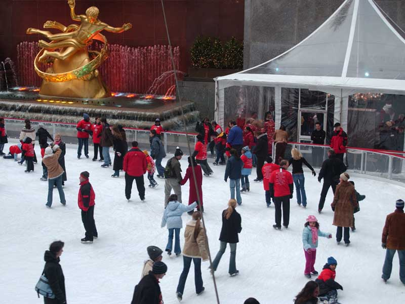 The Rockefeller Center Ice Rink and our private tent