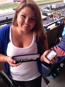 """Military wife with her """"Purple Heart"""" bracelet"""